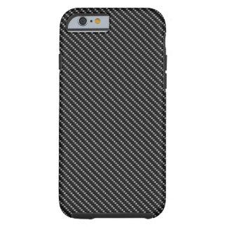 Black Carbon Fiber Base Tough iPhone 6 Case