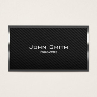 Black Carbon Fiber Programmer Business Card