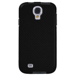 Black Carbon Fiber Style Print Decor Galaxy S4 Case