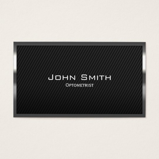 Black Carbon Fibre Optometrist Business Card