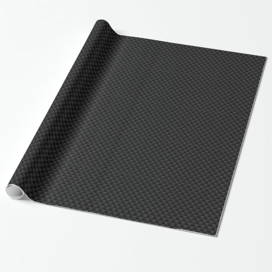 Black Carbon Fibre Print Wrapping Paper