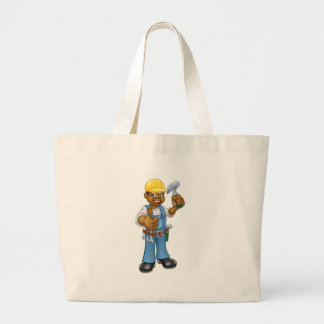 Black Carpenter Handyman Large Tote Bag