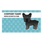 Black Cartoon French Bulldog Pack Of Standard Business Cards
