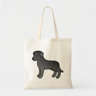 Black Cartoon Labrador Retriever Dog Design