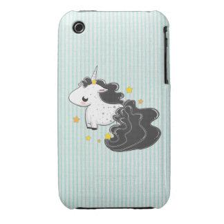 Black cartoon unicorn with stars iPhone 3G Case Case-Mate iPhone 3 Cases