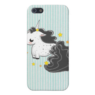Black cartoon unicorn with stars iPhone 4/4s Speck iPhone 5 Cover