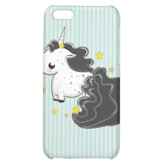 Black cartoon unicorn with stars iPhone 4/4s Speck Cover For iPhone 5C
