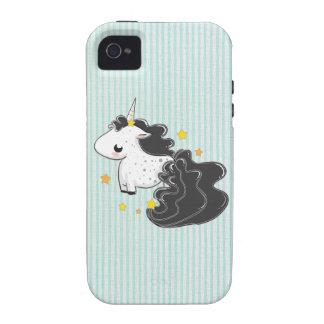Black cartoon unicorn with stars iPhone 4 iPhone 4 Case