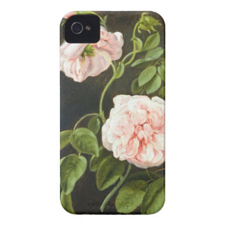 Black Case with Flowers iPhone4 Case