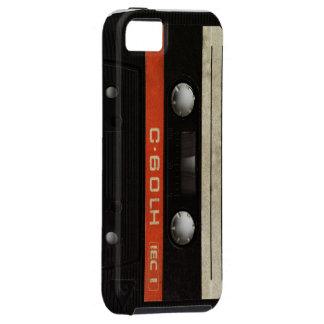Black Cassette Mobile Phone Case Tough iPhone 5 Case