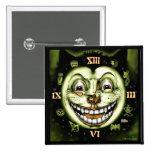 Black Cat 13 Clock Halloween 15 Cm Square Badge