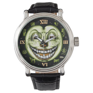 Black Cat 13 Clock Halloween Watch