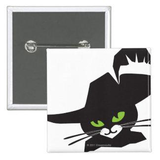 Black Cat 15 Cm Square Badge