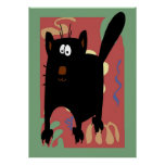 Black Cat Abstract Posters
