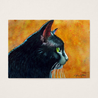 Black Cat ACEO Business Card