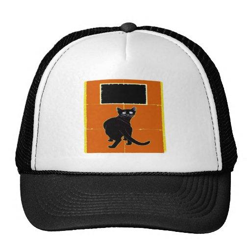 Black Cat, add text Trucker Hats