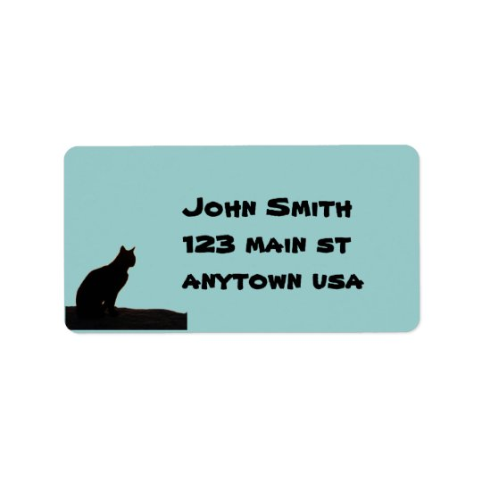 Black Cat Address Avery Label