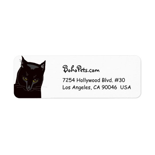 Black Cat address labels