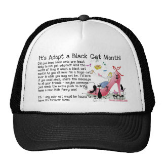 Black Cat Adoption Mesh Hat