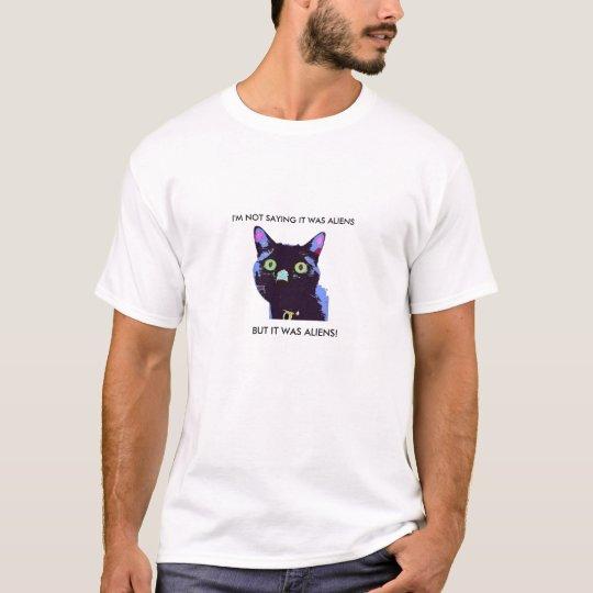 Black Cat Aliens t-shirt