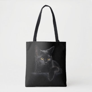 Black Cat All-Over-Print Tote Bag