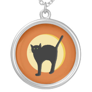 Black Cat and Harvest Moon Necklace