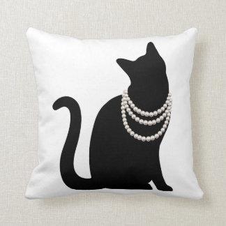 Black cat and jewel cushion pillow