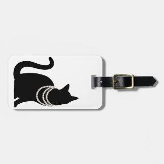 Black cat and jewel ragetsujitagu luggage tag