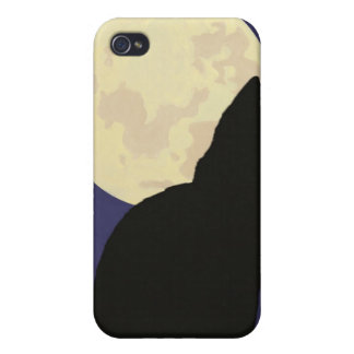 Black Cat and the Moon iPhone 4 Cover