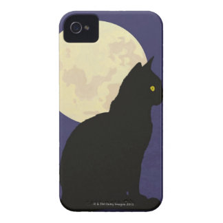 Black Cat and the Moon iPhone 4 Covers