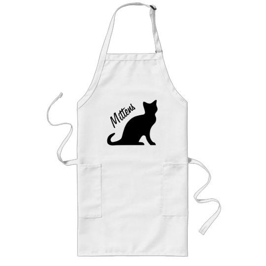 Black cat aprons | Personalizable text