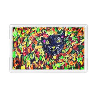 black cat art 2 acrylic tray