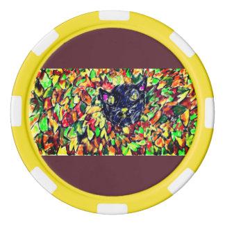 black cat art 2 poker chips