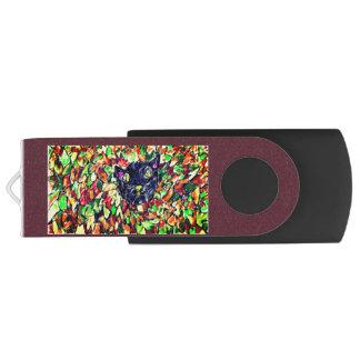 black cat art 2 USB flash drive
