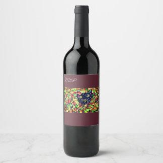 black cat art 2 wine label