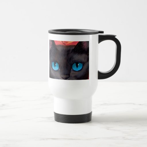 Black Cat Art  & Butterfly - Multi Stainless Steel Travel Mug