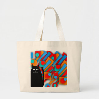 Black Cat Art Gifts Canvas Bags