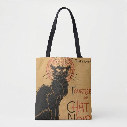 Black Cat Art Nouveau - Tote Bag