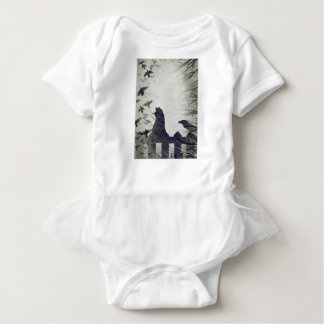 Black Cat Baby Tutu Shirt