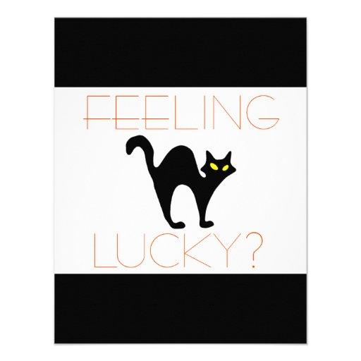 Black Cat Bad Luck Invitation