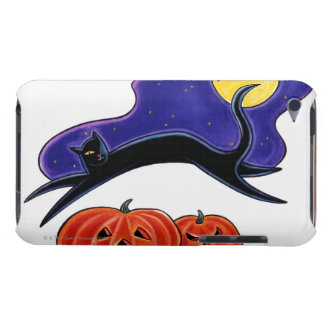 Black Cat Barely There iPod Cases