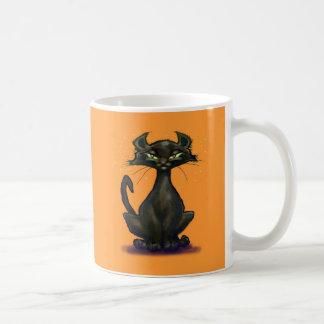 Black Cat Basic White Mug