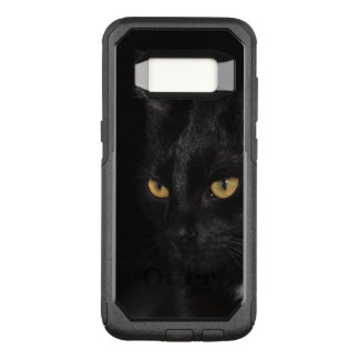 Black Cat Beautiful Eyes Night Photography OtterBox Commuter Samsung Galaxy S8 Case
