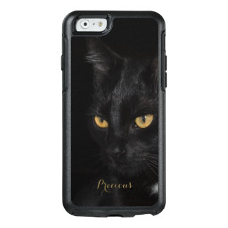 Black Cat Beautiful Eyes Night Photography OtterBox iPhone 6/6s Case