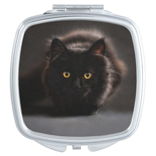 Black Cat - Beauty Compact Mirror