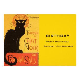 Black Cat Birthday Party Invitation Announcement