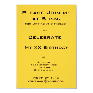 Black Cat Birthday Party Invitation Announcement