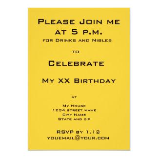 Black Cat Birthday Party Invitation