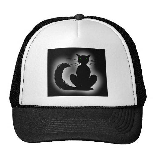 black cat black cat trucker hat