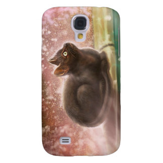 Black cat, Black magic cat Galaxy S4 Case